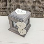 Shabby Chic In Memory Of BROTHER Or ANY NAME Rustic Wood Personalised Photo CUBE - 232994700142